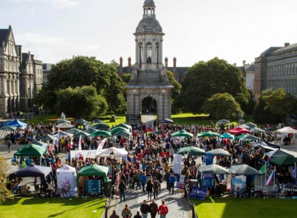 An aerial view of Freshers' Week 2016.