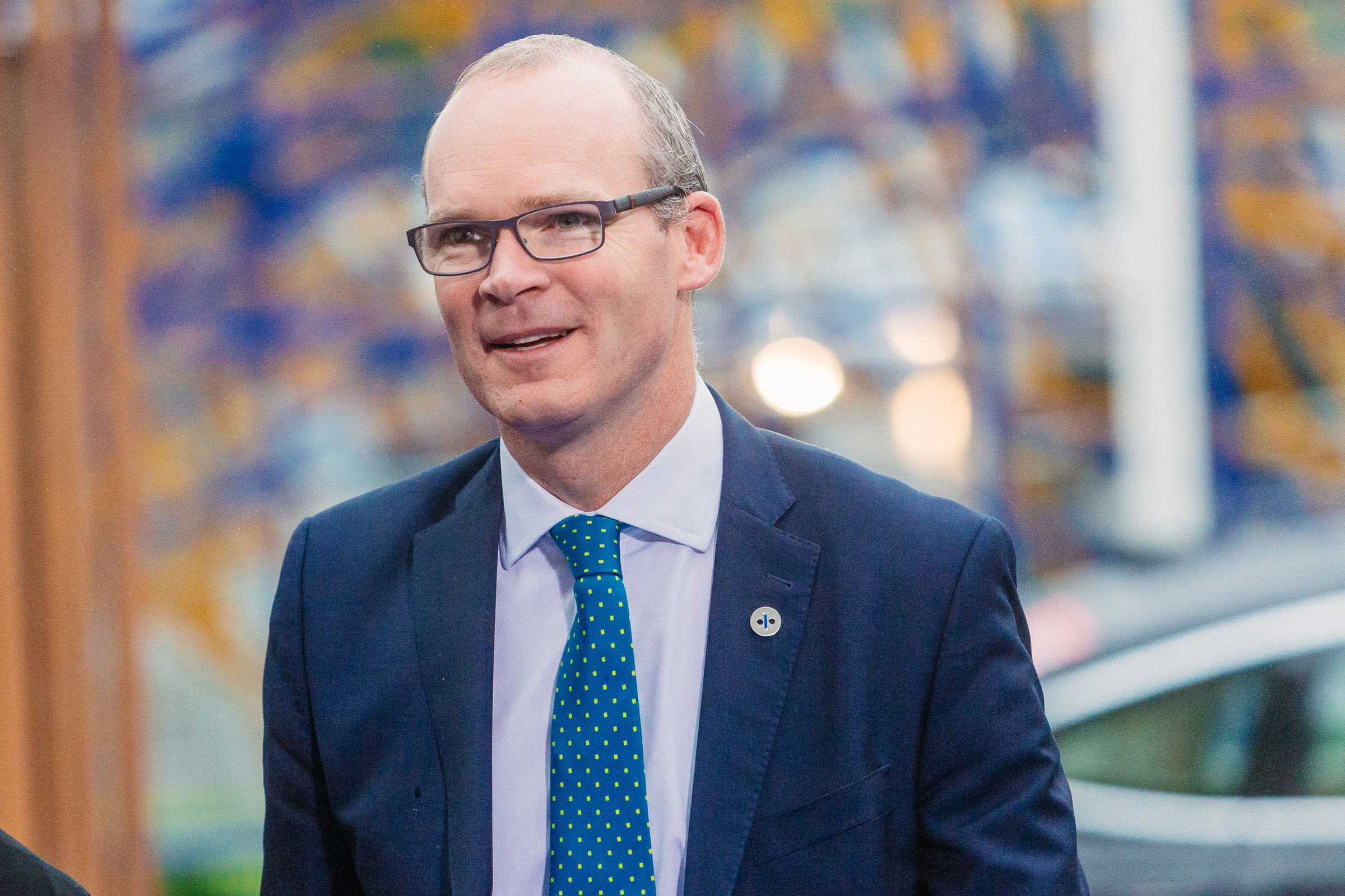 A picture of Simon Coveney dating from 2017.